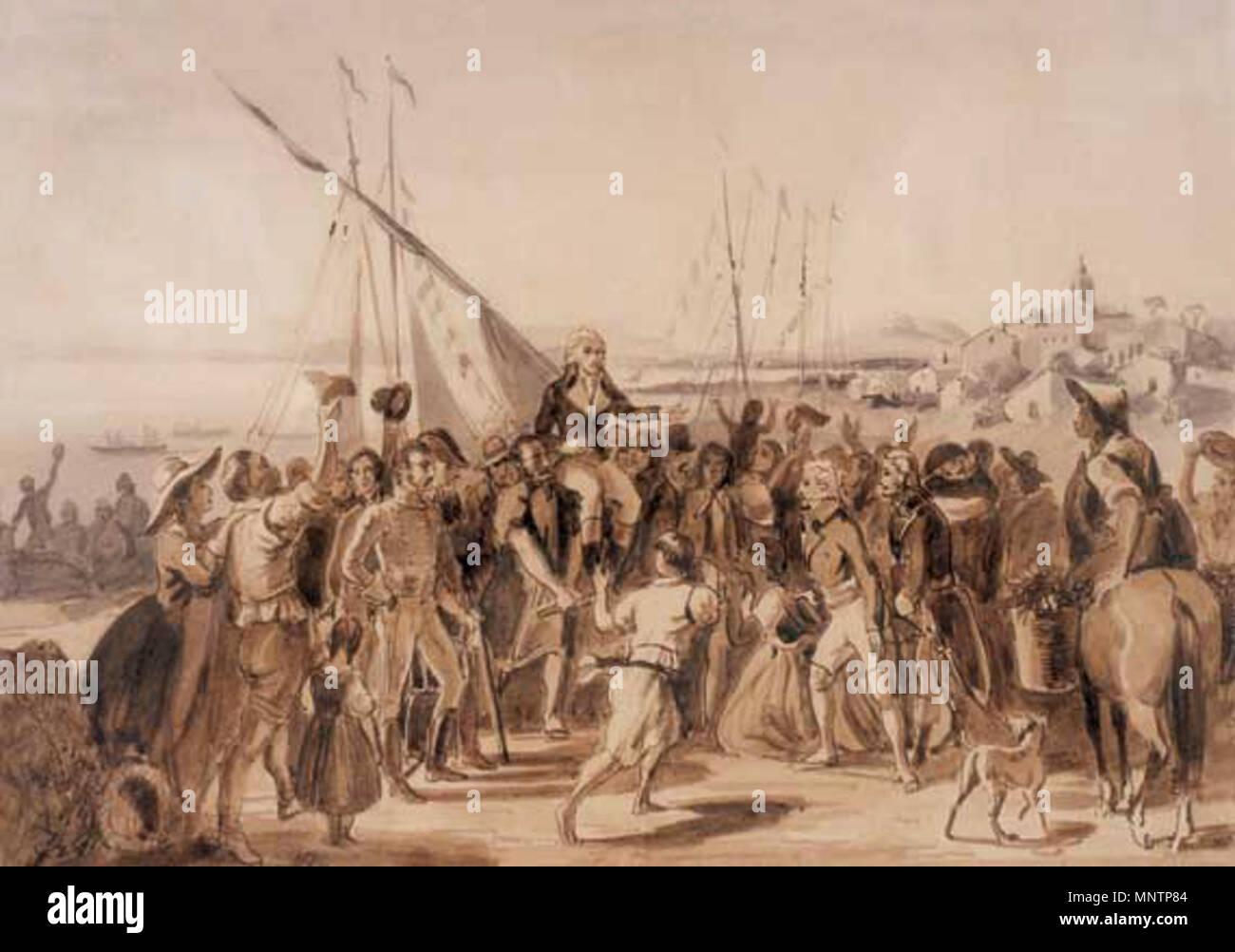 . Español: Francisco de Miranda, en su llegada a La Guaira el 10 de diciembre de 1810, es recibido con entusiasmo por la población, y por Bolívar. Siglo xix. Johann Moritz Rugendas (1802-1858) Descripción el pintor alemán, viajero y escritor Fecha de nacimiento/muerte el 29 de marzo de 1802 el 29 de mayo de 1858 Lugar de nacimiento/muerte Augsburg Weilheim ubicación de trabajo en Alemania, América del Sur : control de autoridad Q652305: 61675197 ISNI VIAF: 0000 0001 0907 6712 ULAN: 500005074 LCCN: N50052066 NLA: 48044412 1044 Recibimiento de WorldCat de Miranda en La Guaira Imagen De Stock