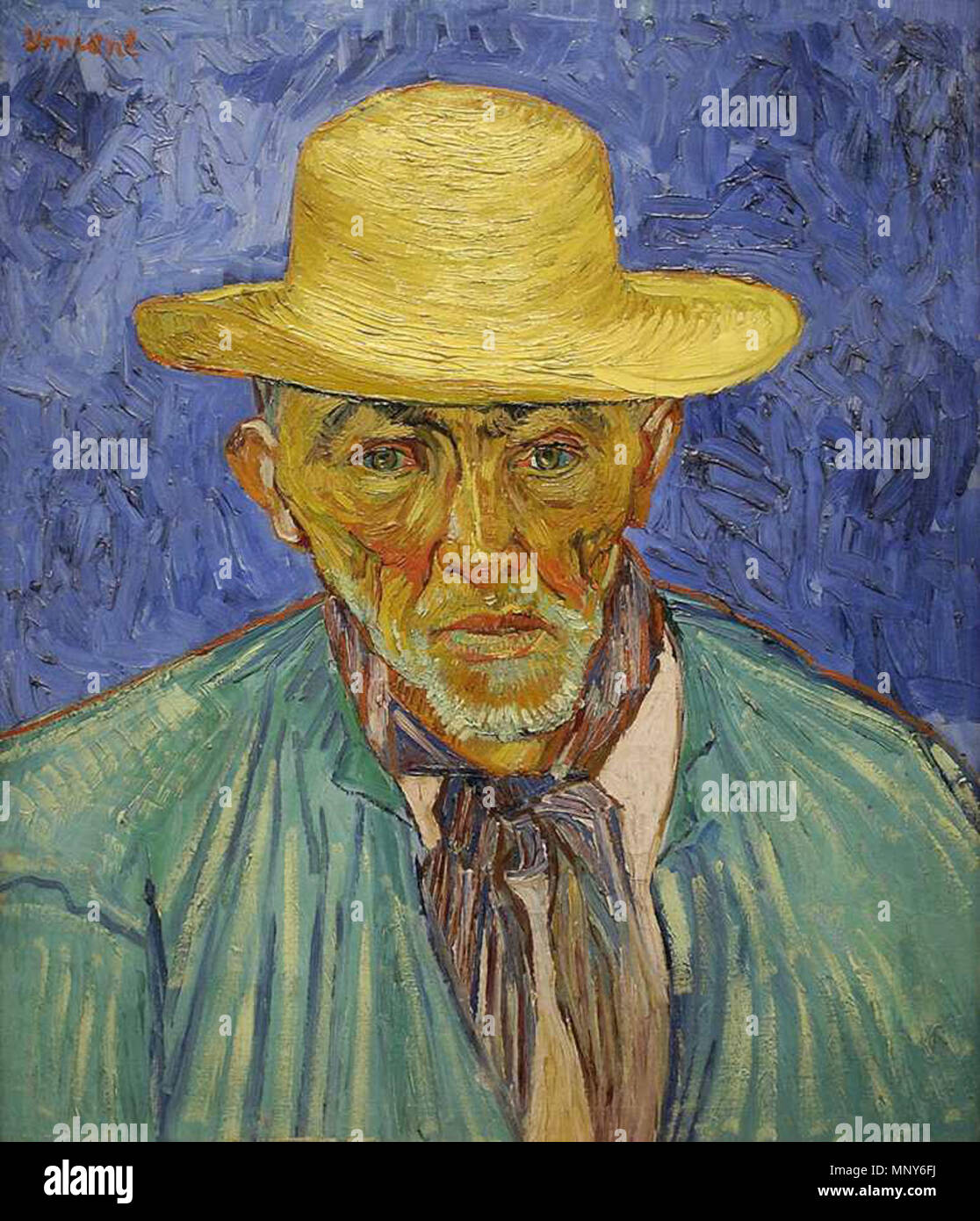 Retrato de un campesino (Paciencia Escalier) 1888. 1238 Vincent van Gogh retrato de un campesino Foto de stock