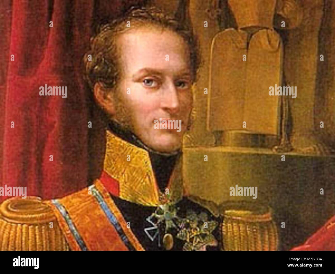 . Inglés: Retrato del Rey holandés Willem I (1772-1843) . A principios del siglo XIX. 1260 Willem I Imagen De Stock