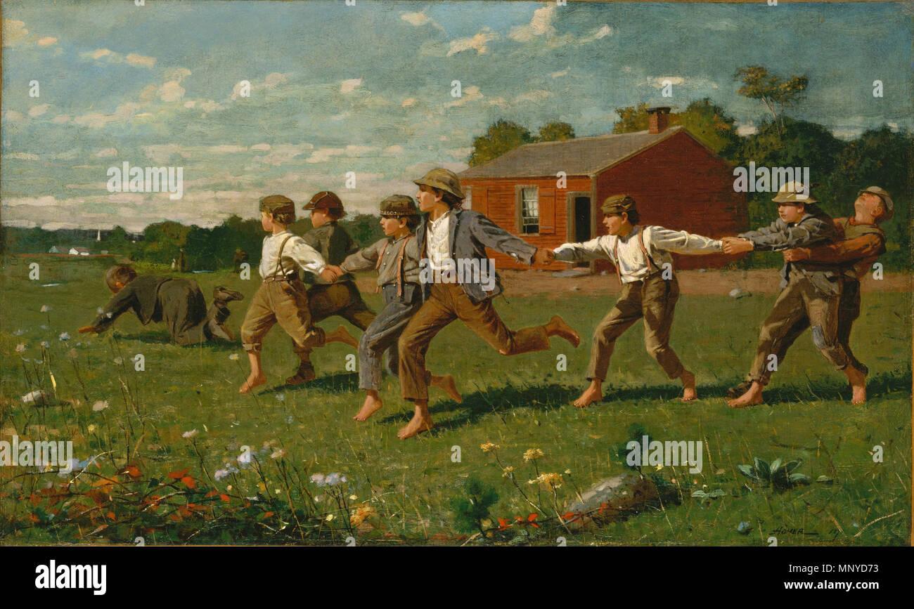 Thomas Moran (American, 1837 - 1926 ), la tan resonante Mar, 1884, óleo sobre lienzo, regalo de la Fundación Avalon Snap el látigo 1872. 1270 Snap el látigo 1872 Winslow Homer Imagen De Stock