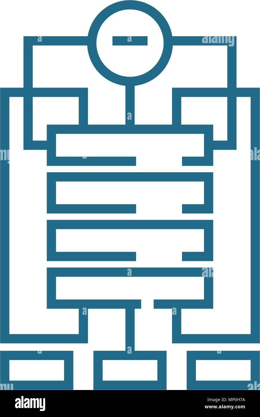 La Estructura De La Empresa Icono Lineal Concepto Línea De