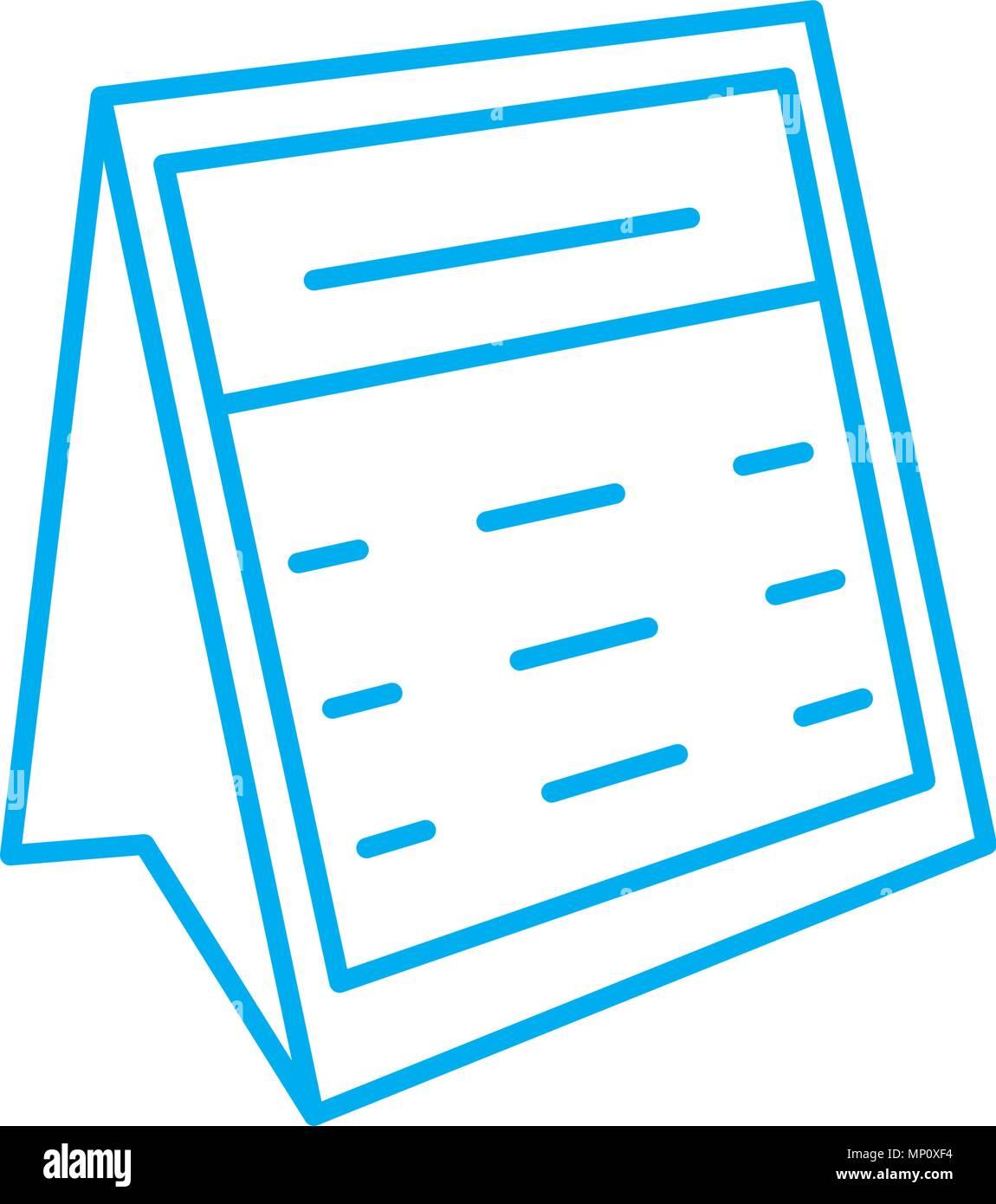 Calendario Lineal.Calendario De Escritorio Icono Lineal Concepto Calendario