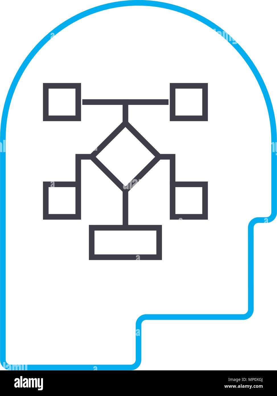Desarrollo De La Estructura De Gestión Icono Lineal Concepto
