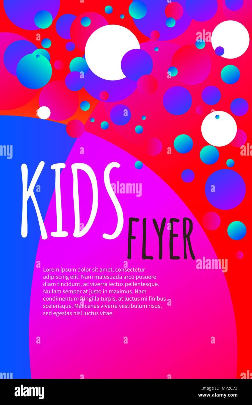 Los niños flyer con confeti brillante verano abstracto, pancarta ...
