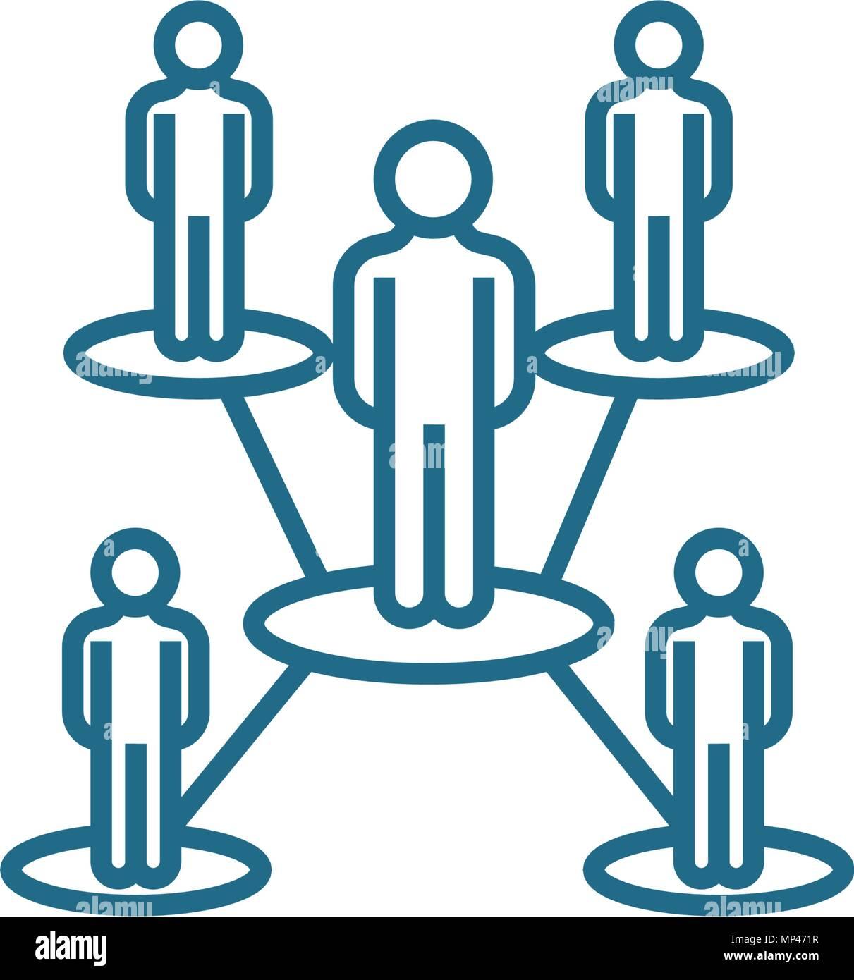 Estructura Organizativa Lineal Concepto De Icono Estructura