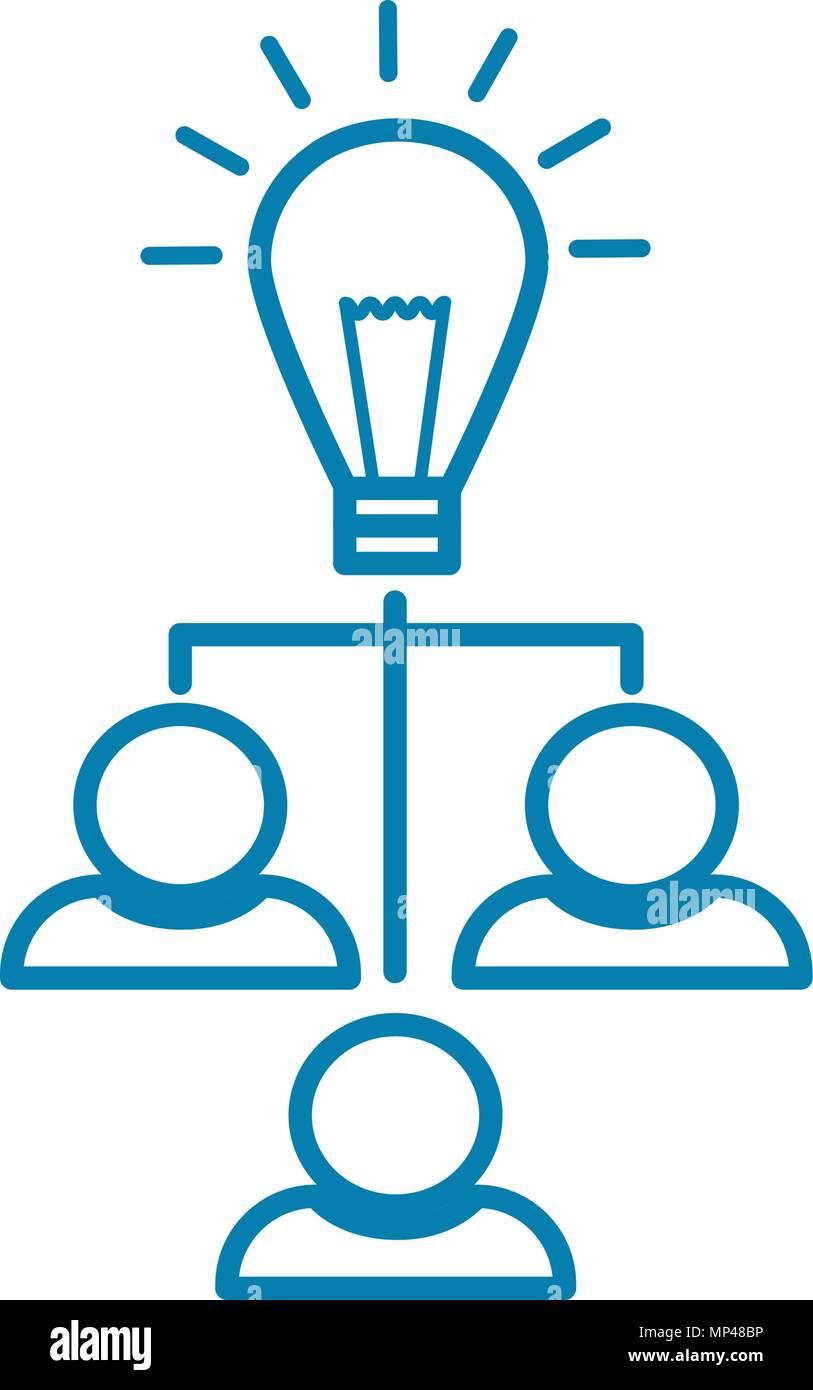 Estructura De La Empresa Icono Lineal Concepto Estructura