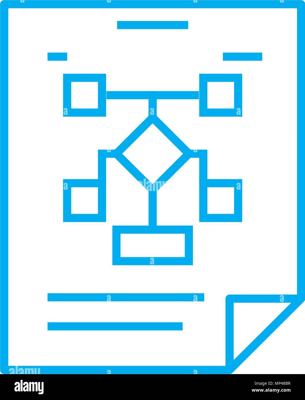 Estructura De La Organización Lineal Concepto De Icono
