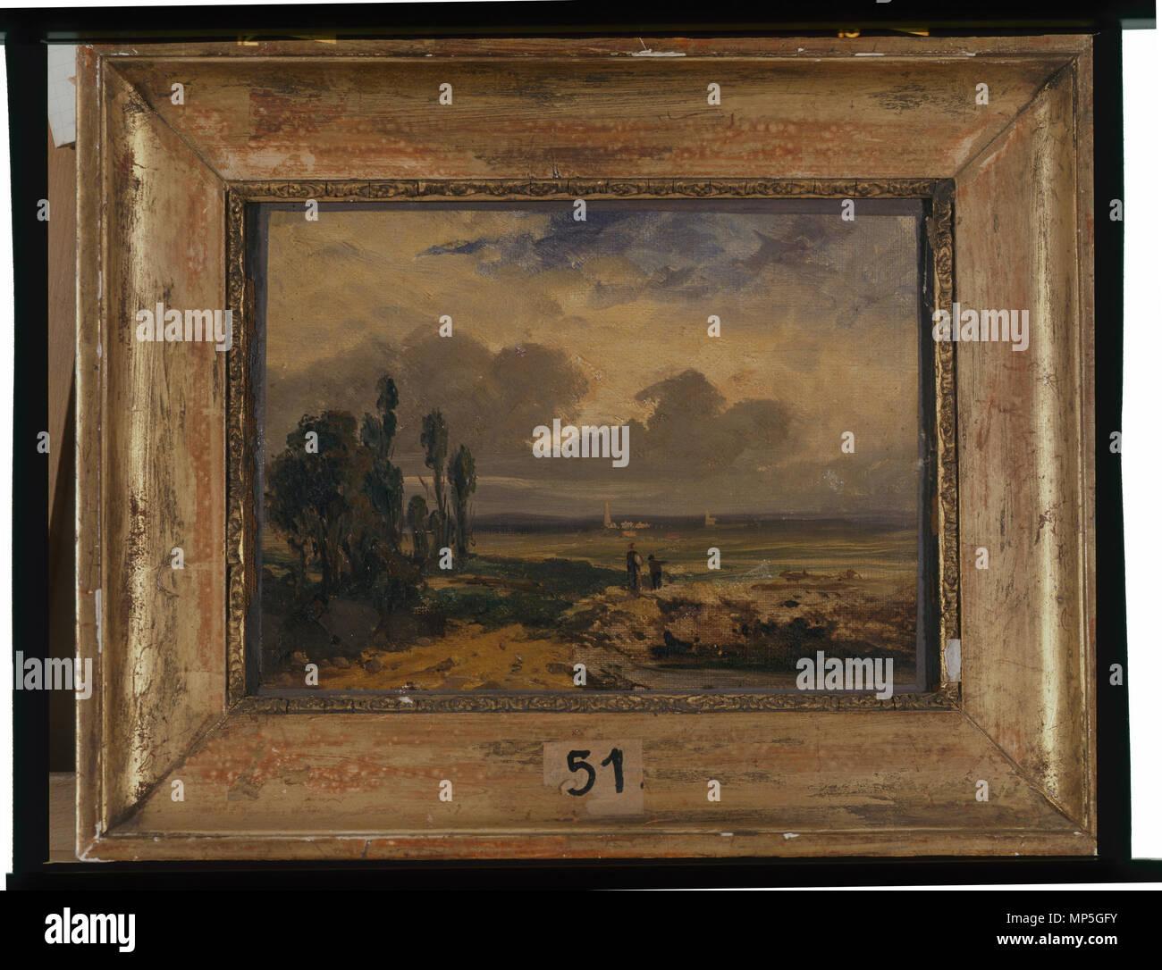 968 Paysage - anonyme - Musée d'art et d'histoire de Saint-Brieuc, DOC 51 Foto de stock