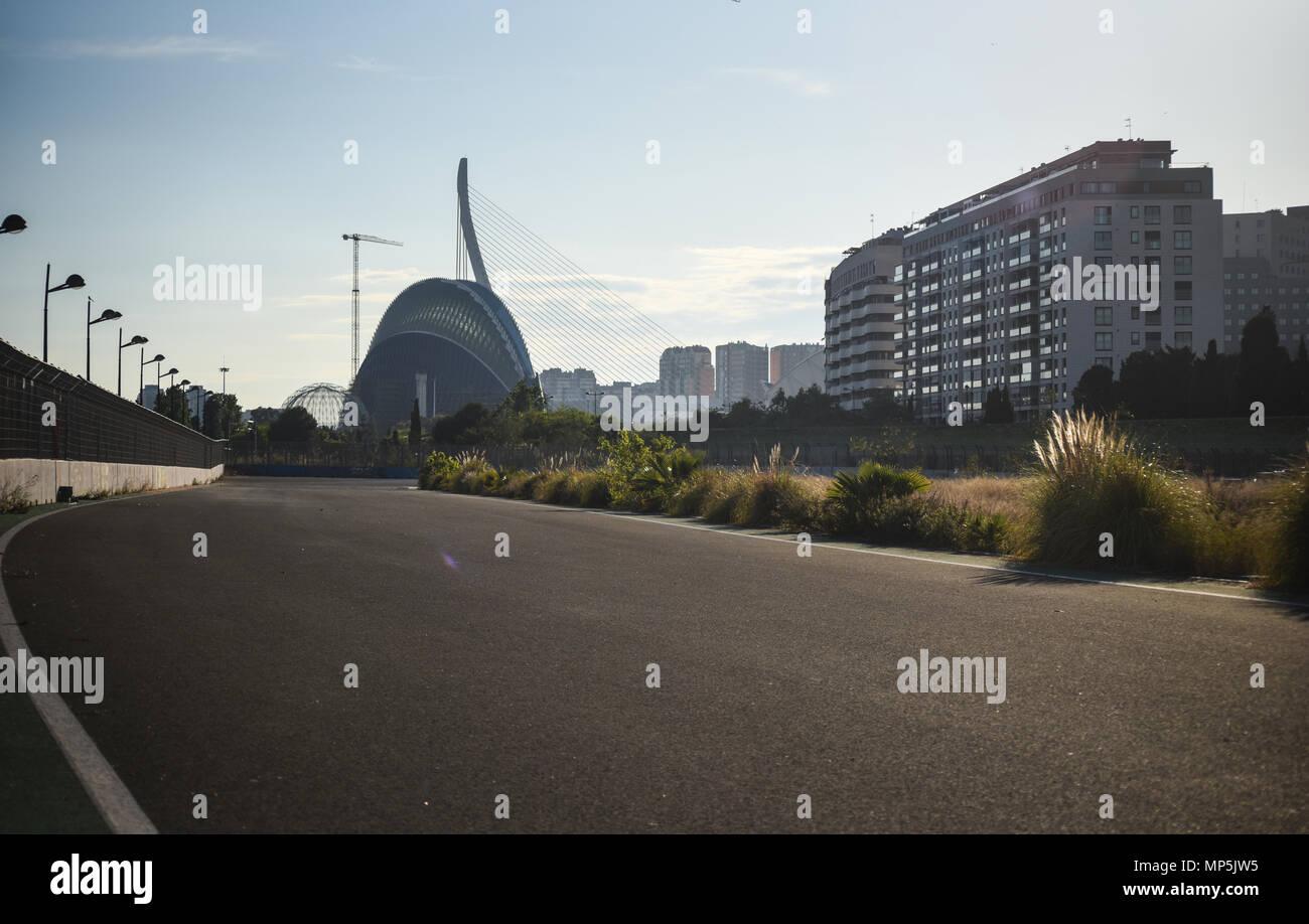 Circuito Urbano Valencia : Estado de abandono en que la vieja fórmula en el circuito urbano
