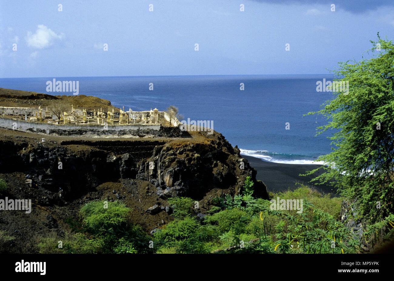 Cementerio, Sao Filipe Sobrado en Fogo Cabo Verde Imagen De Stock