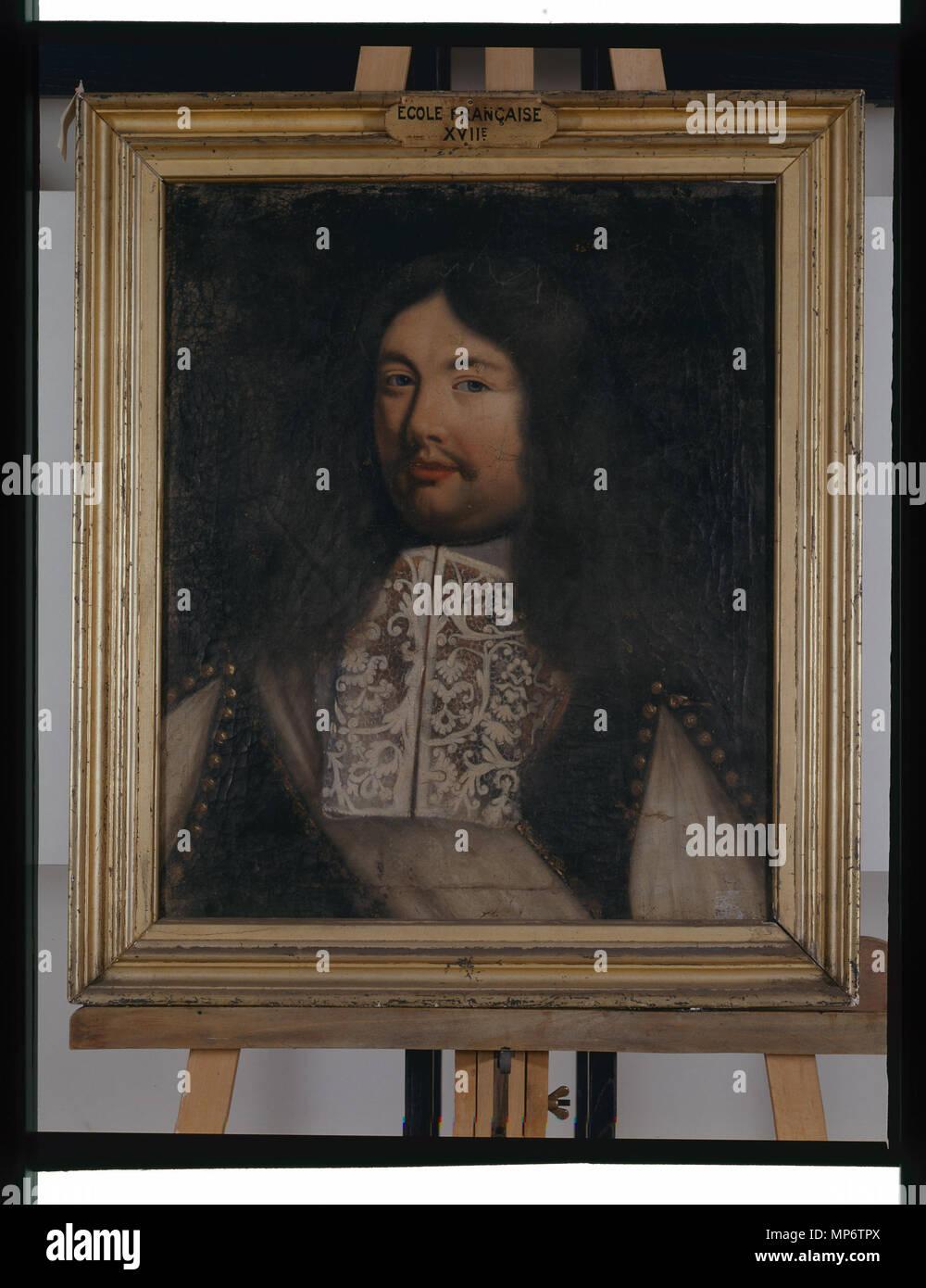 1015 Retrato de seigneur - anonyme - Musée d'art et d'histoire de Saint-Brieuc Foto de stock