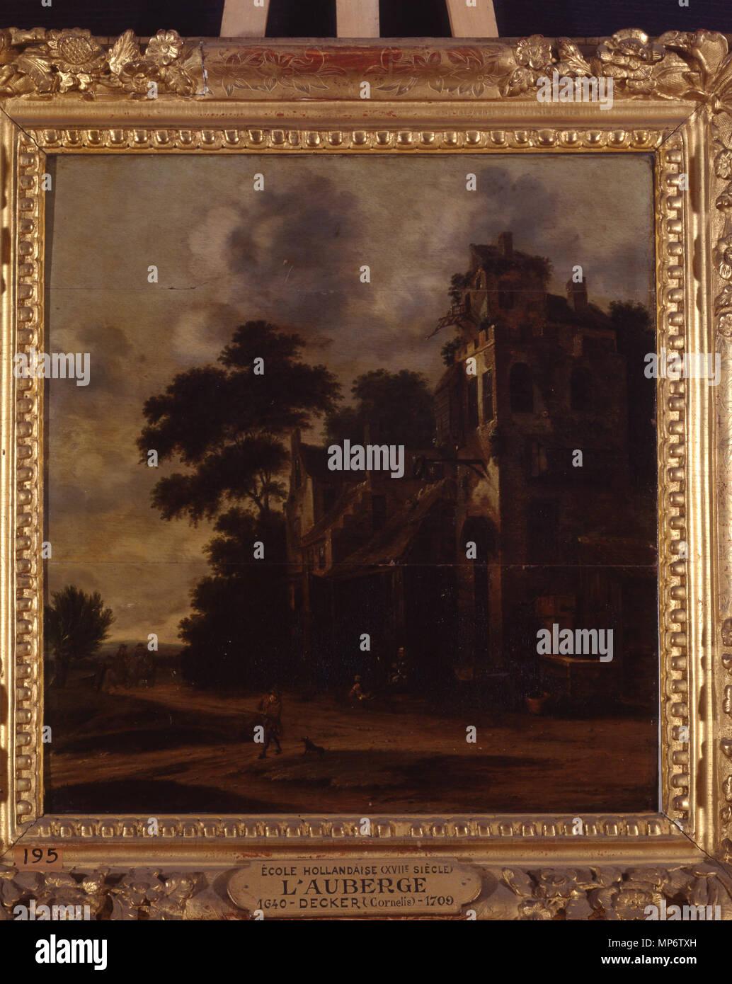 781 L'auberge - Cornelis Dekker - Musée d'art et d'histoire de Saint-Brieuc, DOC 195 Foto de stock