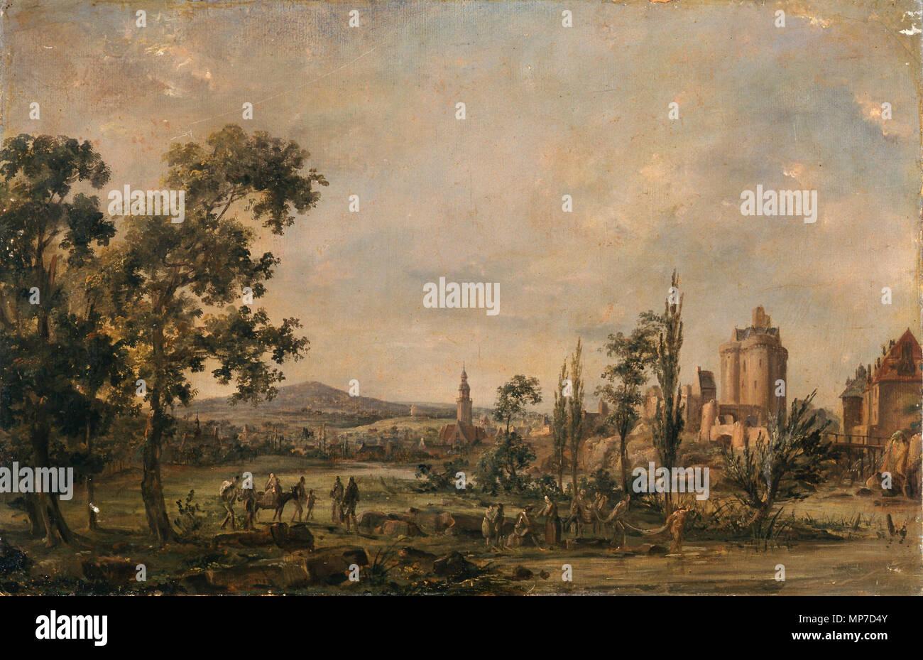 968 Paysage - anonyme - Musée d'art et d'histoire de Saint-Brieucb Foto de stock