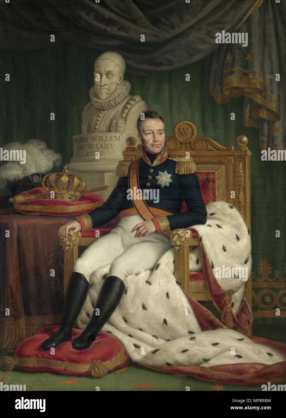 Retrato de Guillermo I, Rey de los Países Bajos del siglo XIX. 766 El Rey Willem I - Van Bree Imagen De Stock