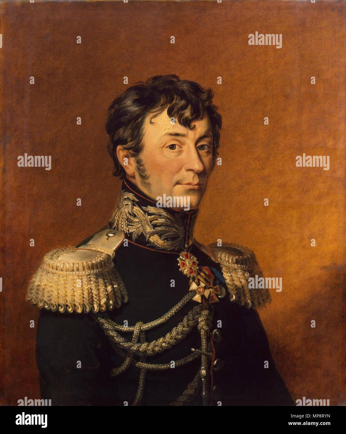 Inglés: Retrato del Barón Karl von Jürgensburg Clodt (1765- 1823), el general ruso Русский: Карл Фёдорович КЛОДТ ФОН ЮРГЕНСБУРГ entre 1823 y 1825. 769 Klodt Karl Gustav Foto de stock