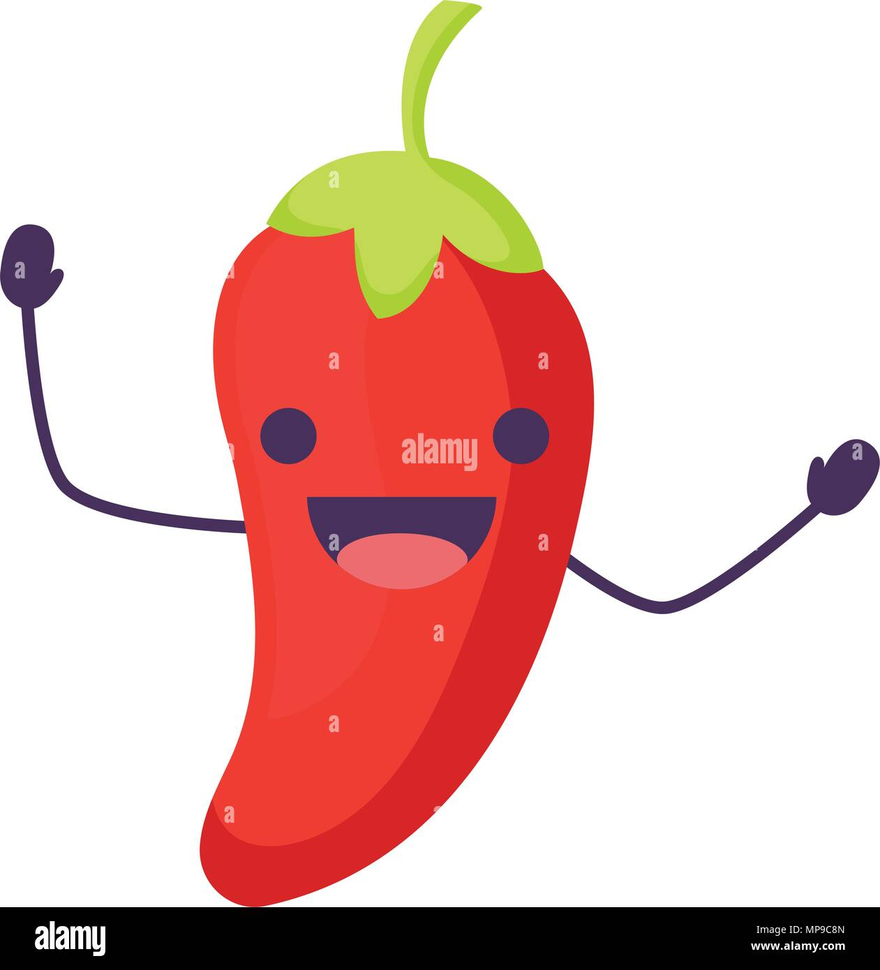 Happy Red Pepper Character Imágenes De Stock   Happy Red Pepper ... e730b5128ad