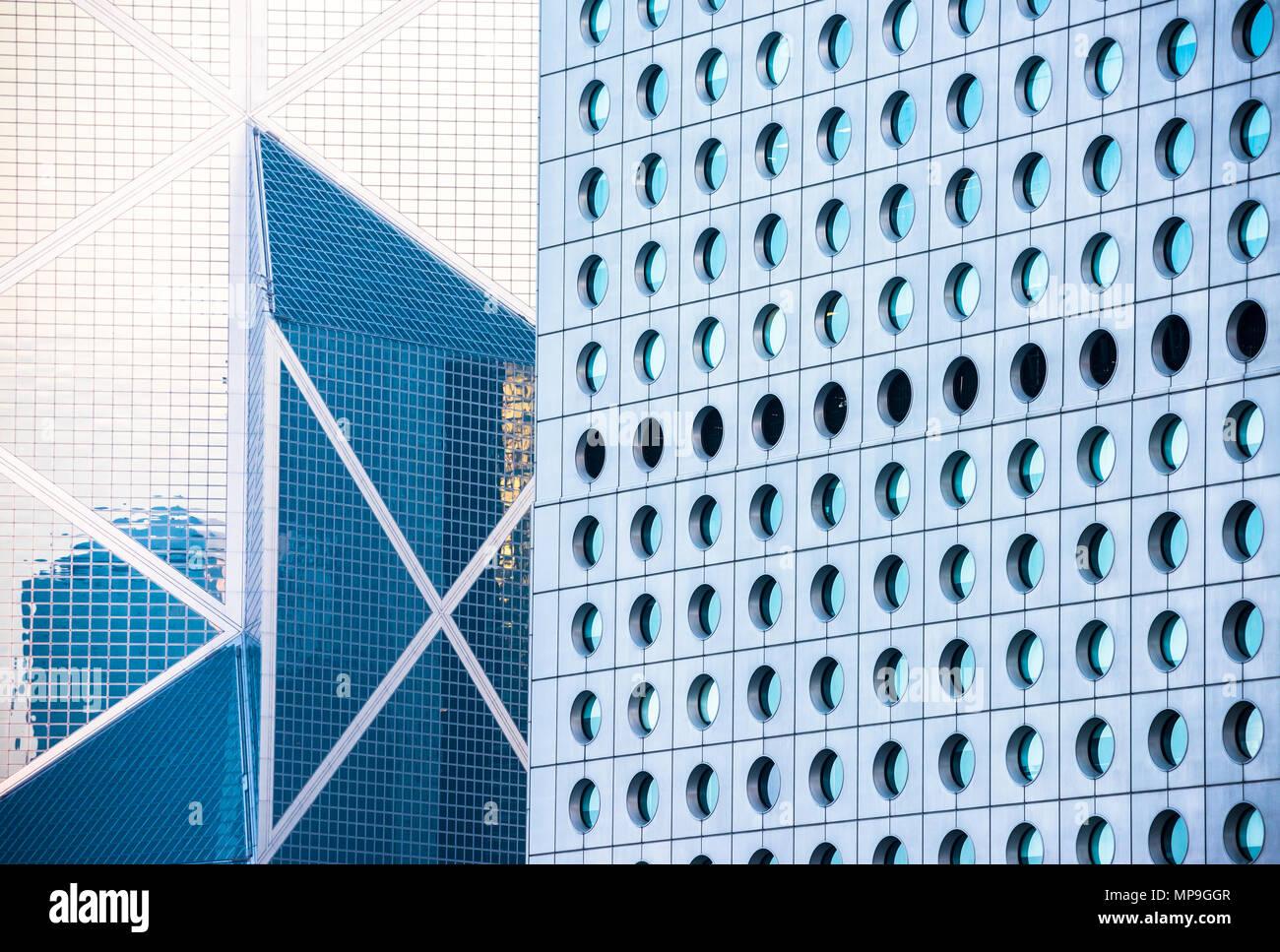 Fondo de edificios de oficinas en Hong Kong Foto de stock