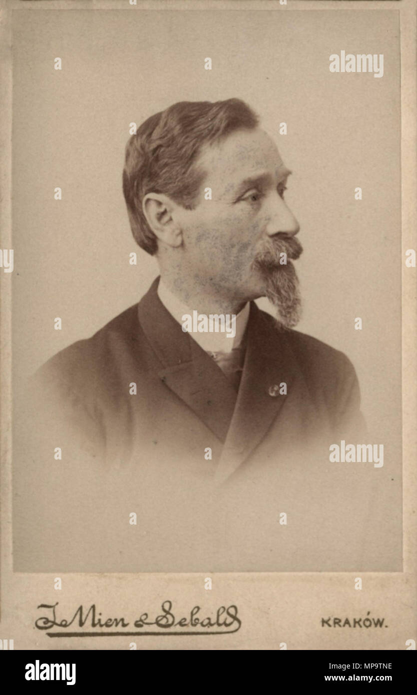 . Polski: Maciej Leon Jakubowski (1837-1915) - lekarz pediatra, rektor Uniwersytetu Jagiellońskiego . Józef Sebald 838 Maciej Jakubowski Foto de stock