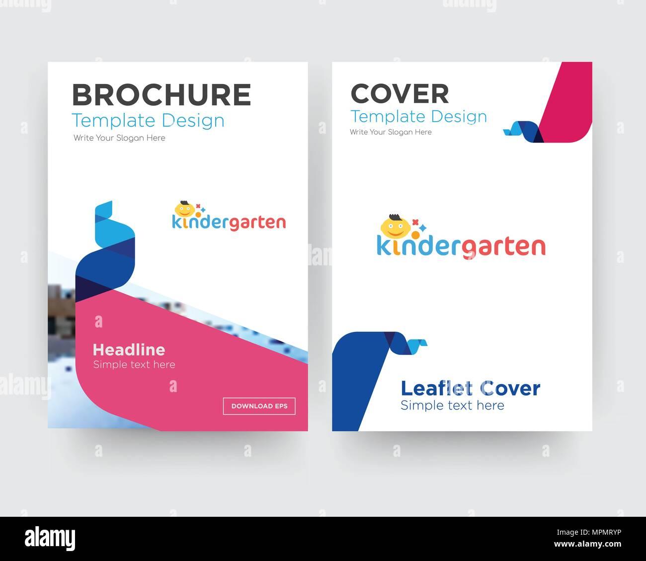 Kindergarten Logo Design Vector Design Imágenes De Stock ...