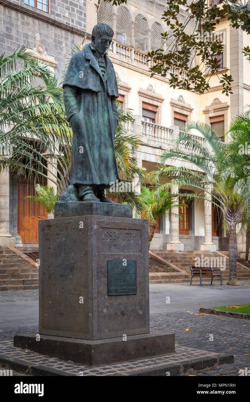 Político español del siglo XIX, liberal, José Murphy estatua, Santa Cruz, Santa Cruz de Tenerife, Islas Canarias, España Imagen De Stock