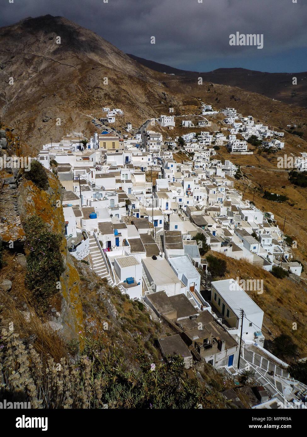 Grecia Serifos Islas Ccladas 21 08 2007 La Aldea De Hora Rodeado