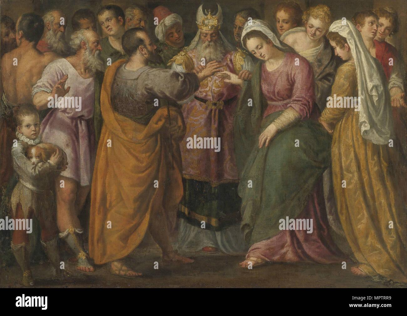 El matrimonio de María y José. Imagen De Stock
