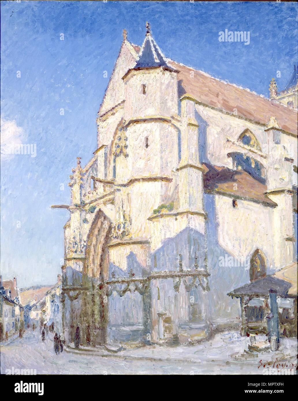 La Iglesia de Moret (noche). Foto de stock