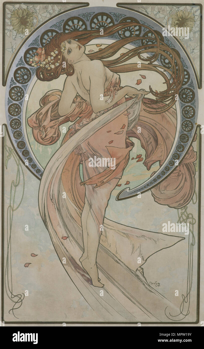 Danza (a partir de la serie de las Artes), 1898. Foto de stock