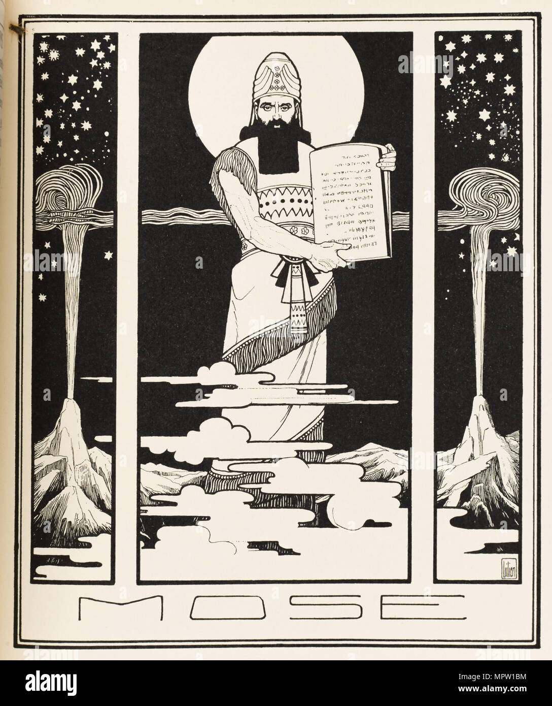 Moisés. A partir de los libros de la Biblia, 1908. Foto de stock