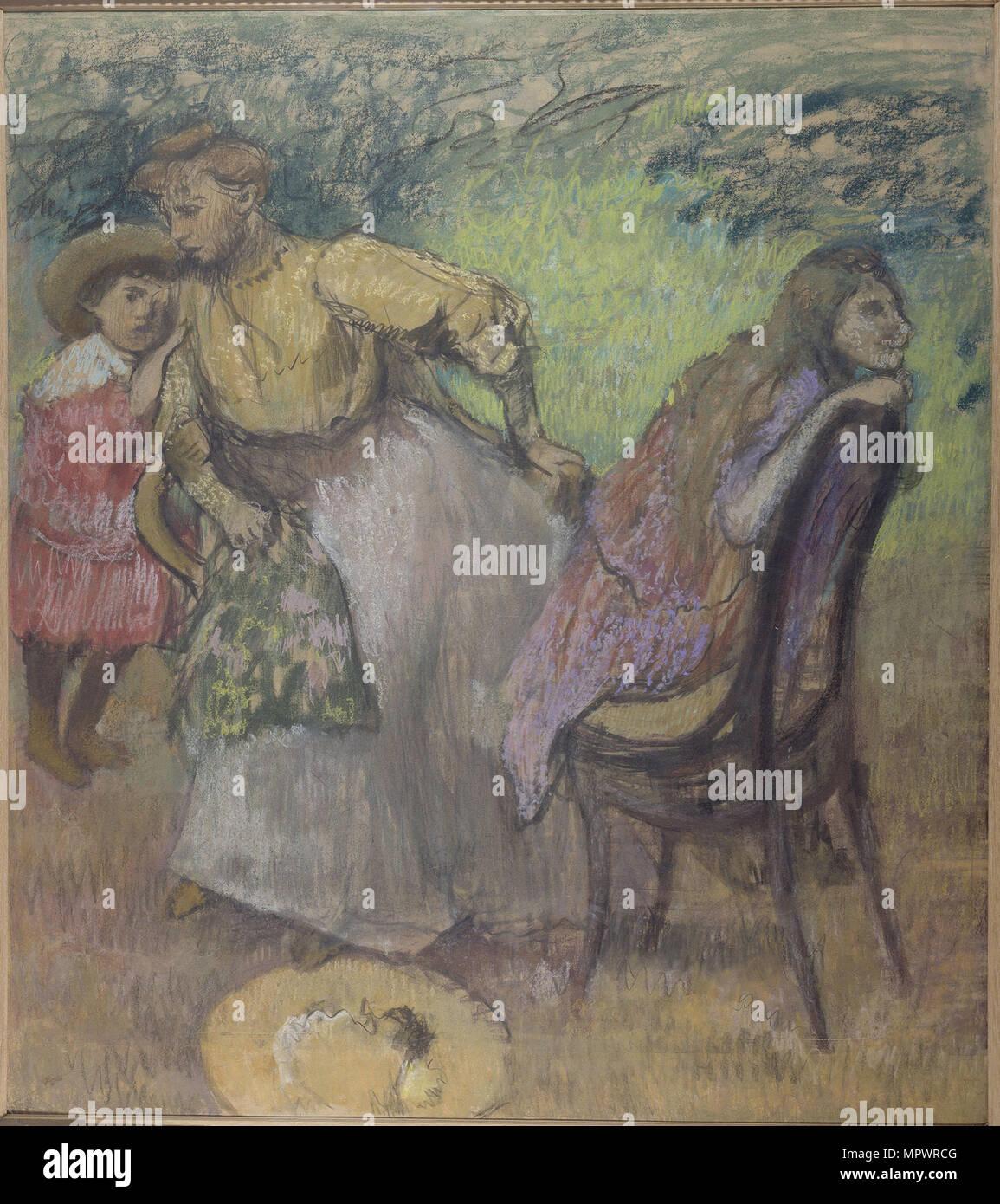 Madame Alexis Rouart y sus hijos, c. 1905. Foto de stock