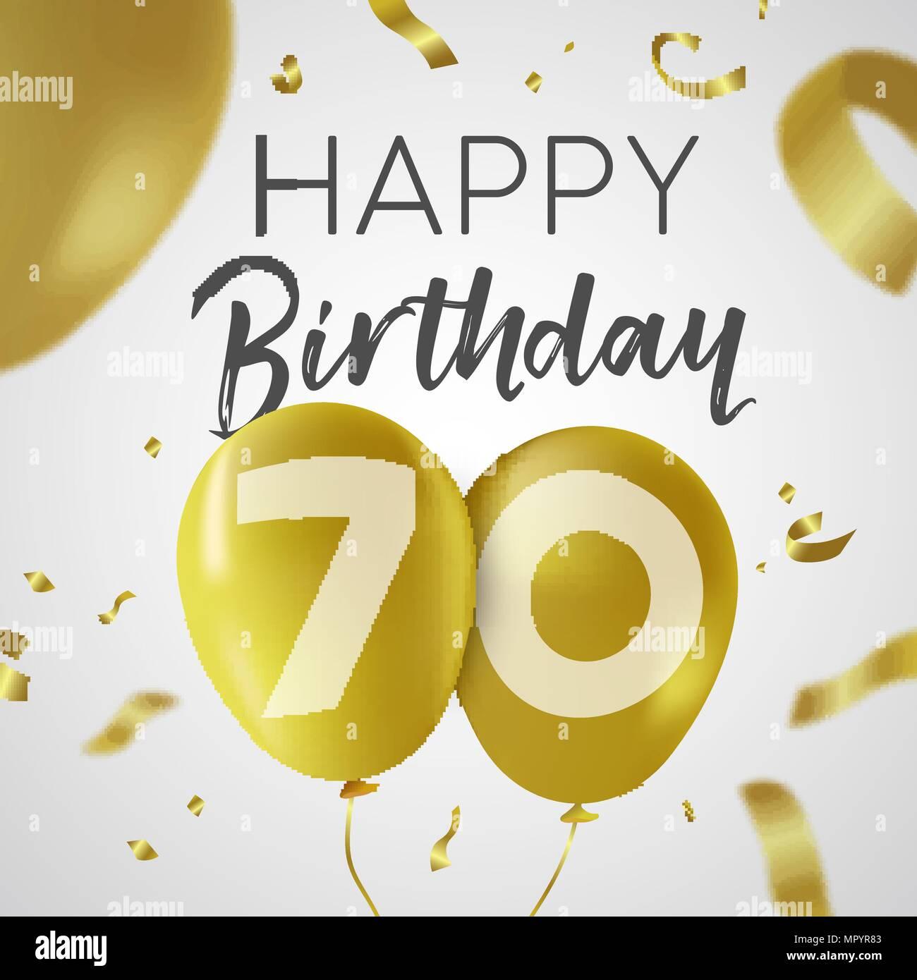 Feliz Cumpleaños 70 Setenta Años Un Diseño De Lujo Con