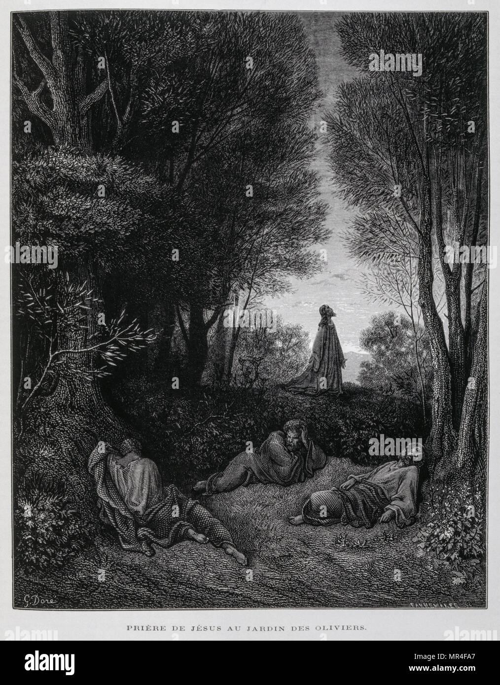 Jesus Praying Garden Gethsemane Imágenes De Stock & Jesus Praying ...