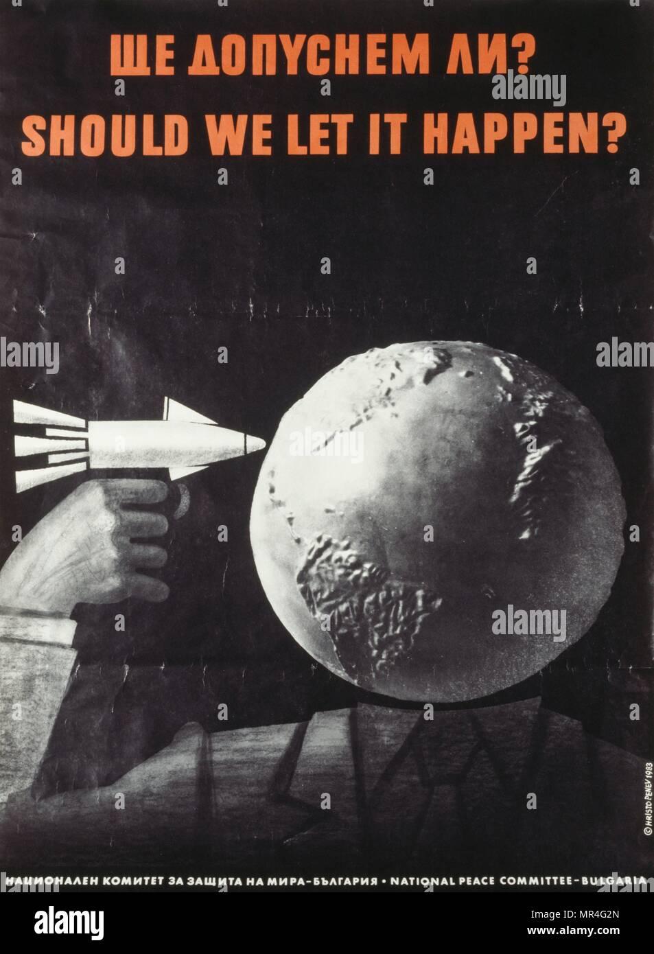 """Debemos dejar que suceda?"""" ruso, la Unión Soviética, la guerra fría, la propaganda poster Imagen De Stock"""