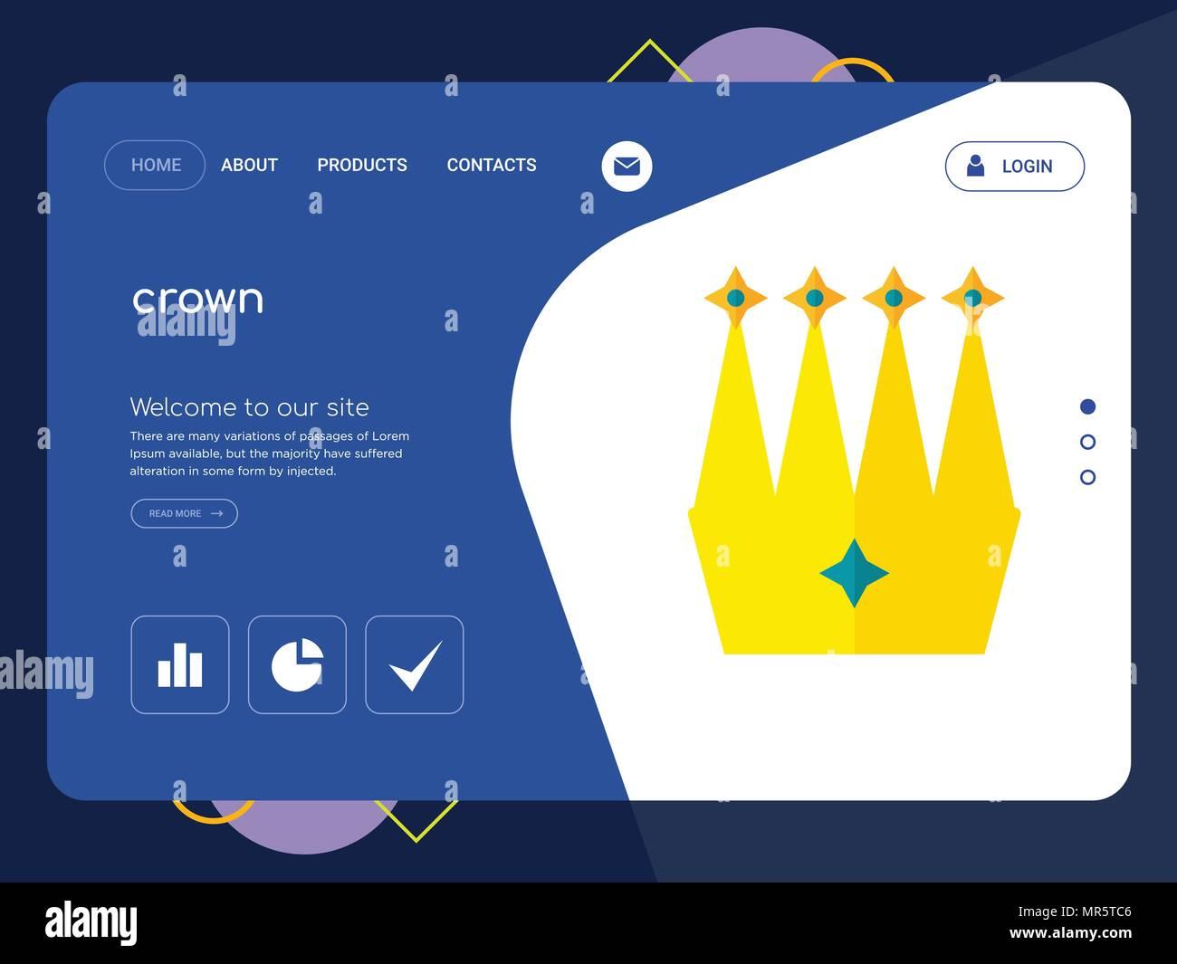 La calidad de una página Web de corona, Eps Vector Plantilla Diseño ...