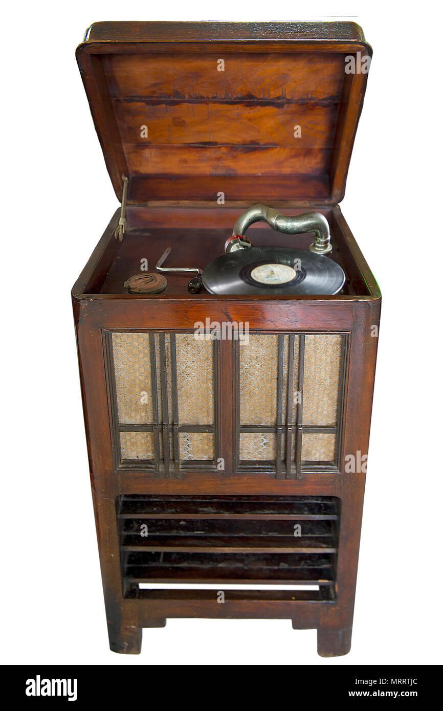 Reproductor de discos de vinilo Vintage retro   el antiguo reproductor de  discos de vinilo en 7dca3a110765