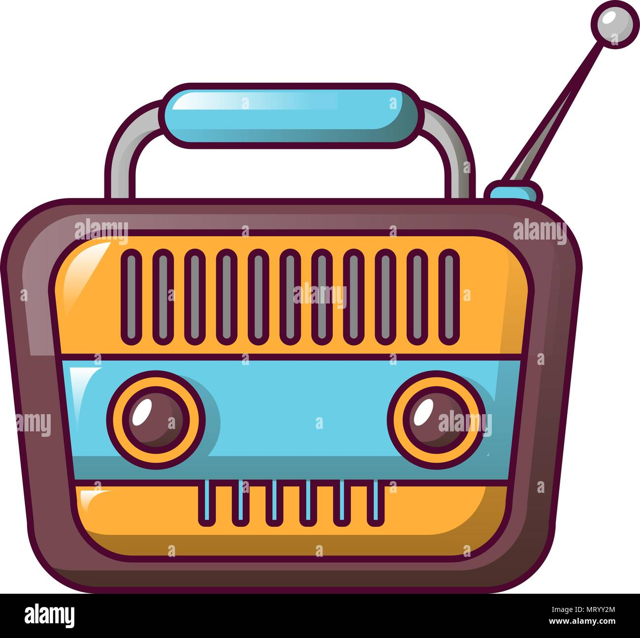 Icono De Radio Vintage Estilo De Dibujos Animados Ilustración Del