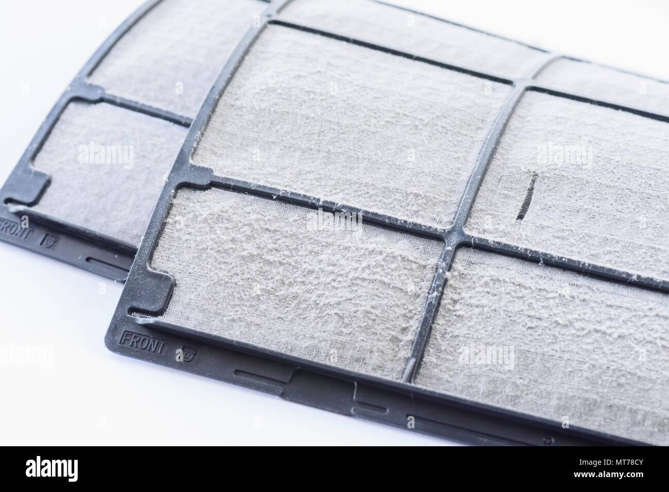Cierre el polvo sucio del filtro del aire acondicionado