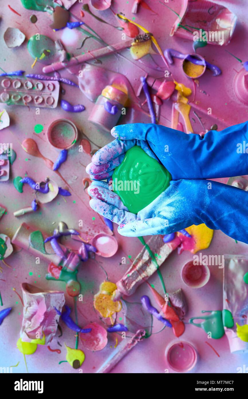 Concepto de residuos tóxicos Imagen De Stock