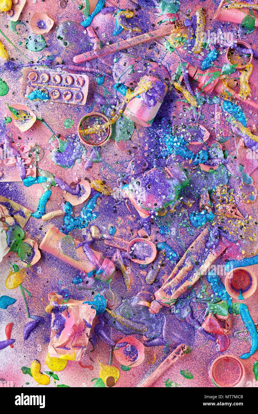 Reluciente montón de basura Imagen De Stock