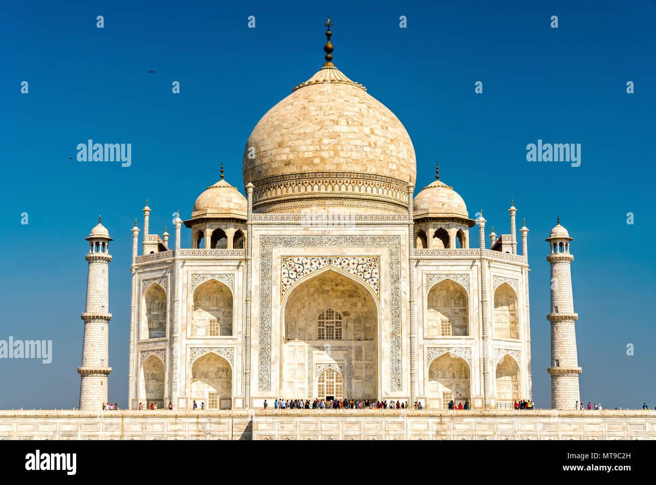 El Taj Mahal, el monumento más famoso de la India. Agra - Uttar Pradesh Imagen De Stock