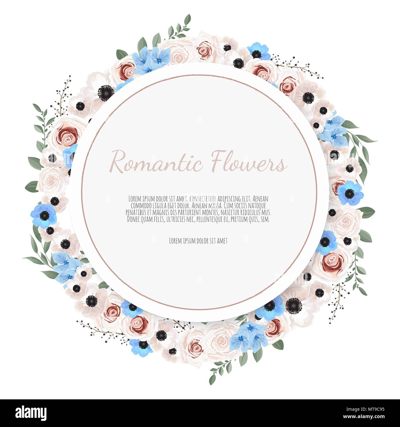 Tarjeta De Diseño Floral De Vectores Saludo Tarjeta Postal