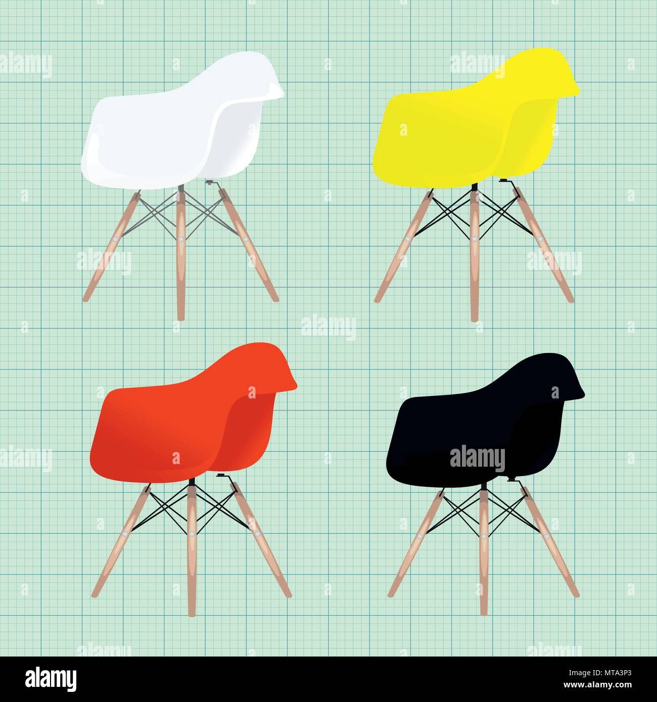 Silla Eames variaciones. Bar restaurante casa muebles de oficina ...