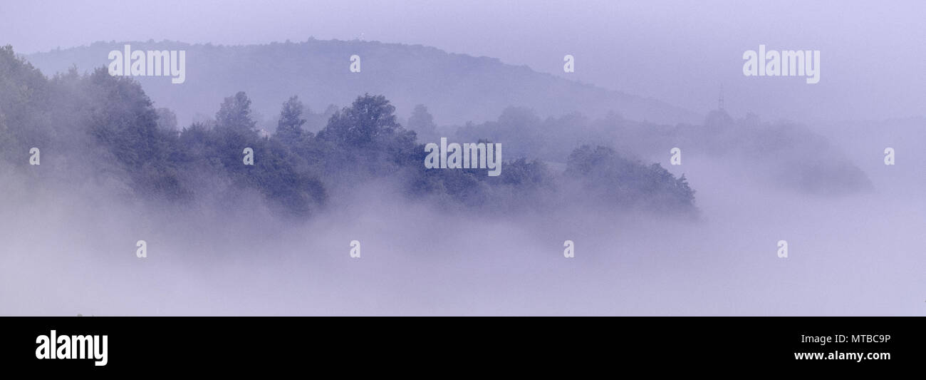 La niebla sobre el río Korana Imagen De Stock
