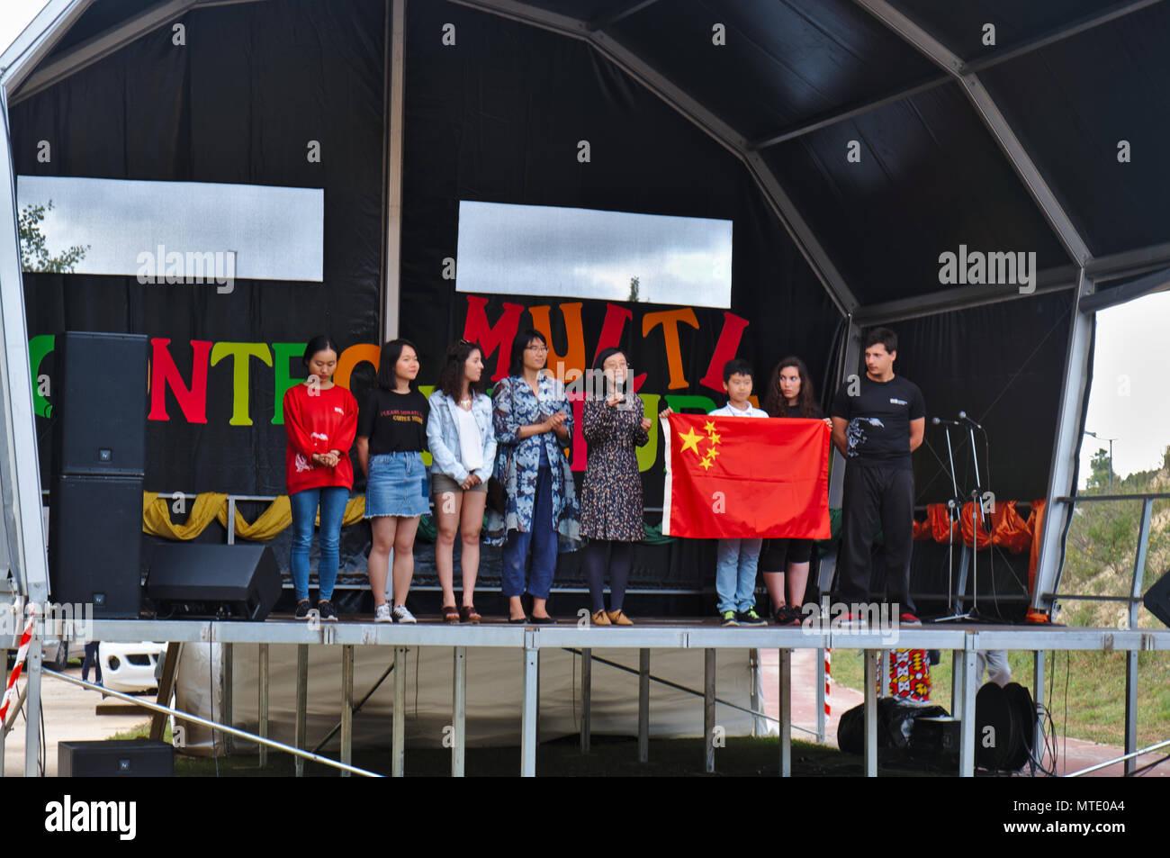 IV Encontro Multicultural (encuentro multicultural) en Albufeira, Algarve, Portugal. May 25th, 2018 Imagen De Stock