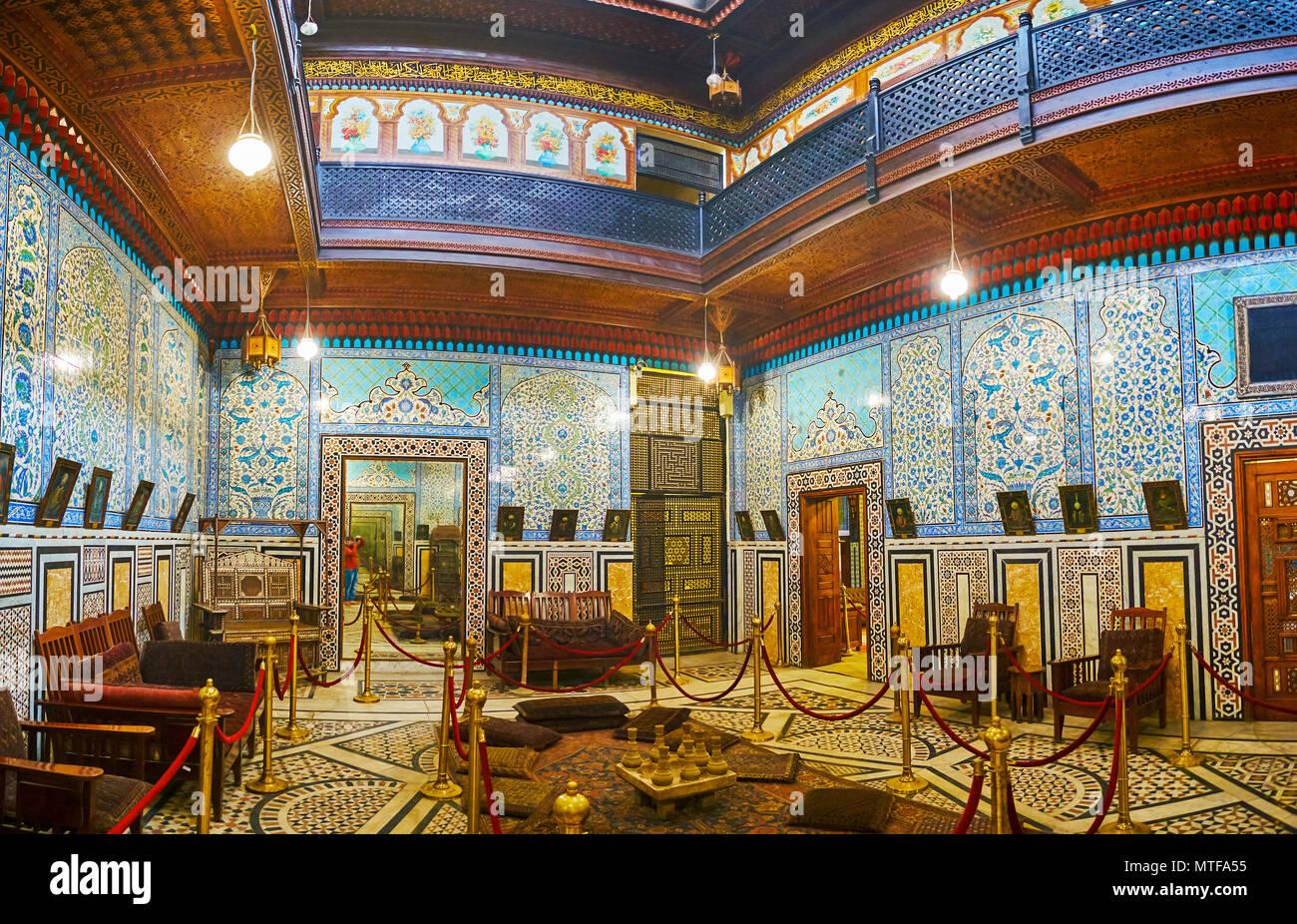 El Cairo Egipto Diciembre 24 2017 Excelente Mirror Hall