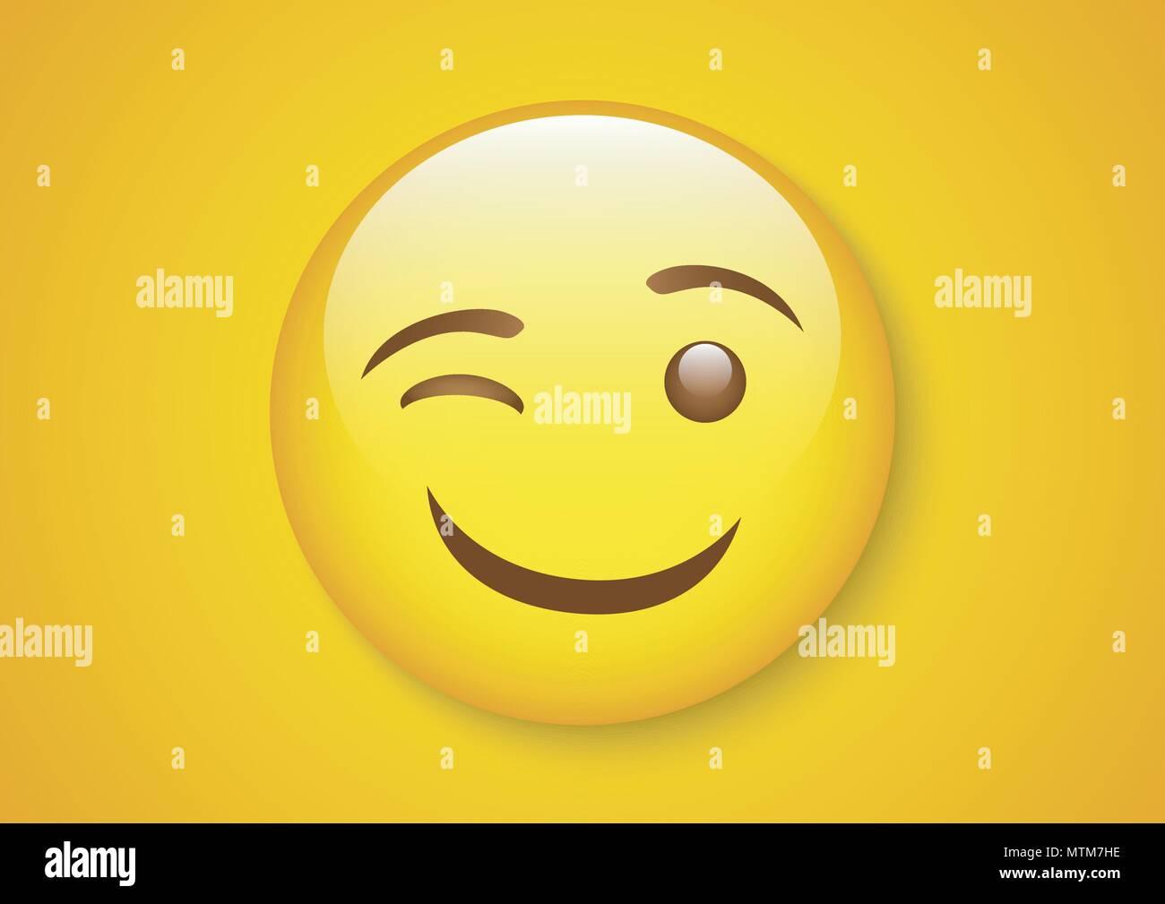 Diseño de vectores de expresión emoticon tease cara Ilustración del Vector