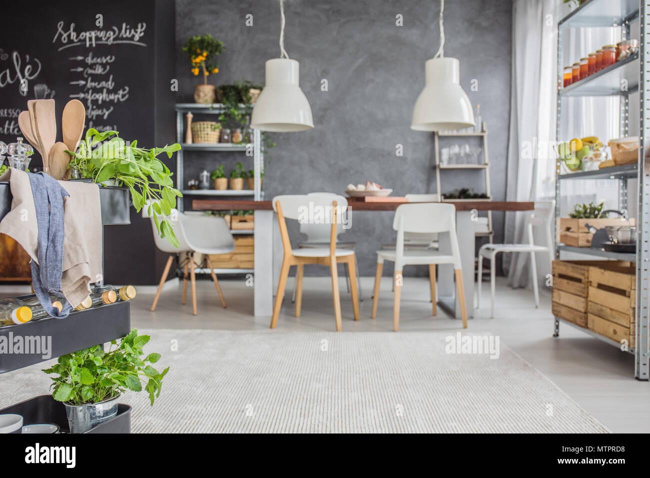Spacious Kitchen Imágenes De Stock   Spacious Kitchen Fotos De Stock ... edb1cb21fb9a