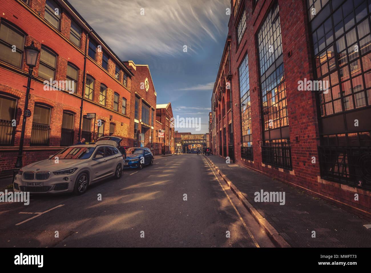 Jewellery Quarter Street shot en Birmingham, Reino Unido Imagen De Stock
