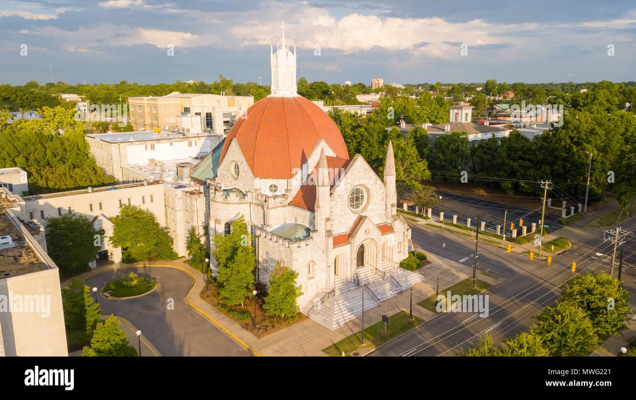 La Primera Iglesia Bautista, Montgomery, Alabama, EE.UU. Foto de stock