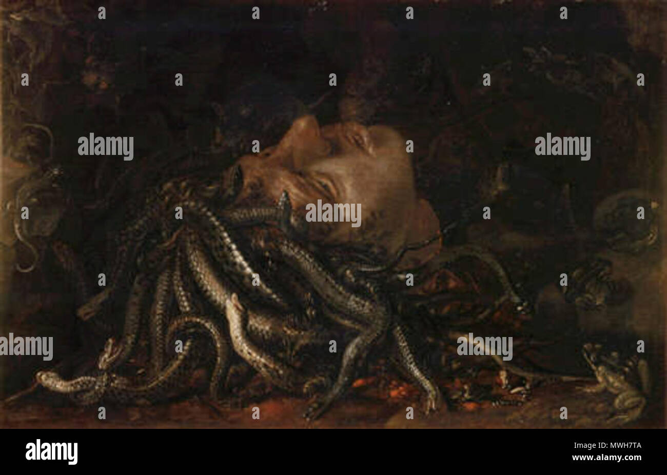 Resultado de imagen para pintura medusa leonardo da vinci